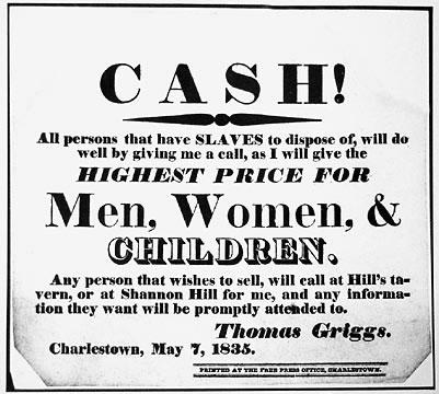 Slavery handbill offering cash for slaves illustration The Library of Congress_jpg