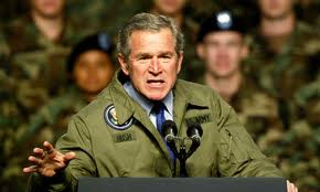 Agressive image of George Bush