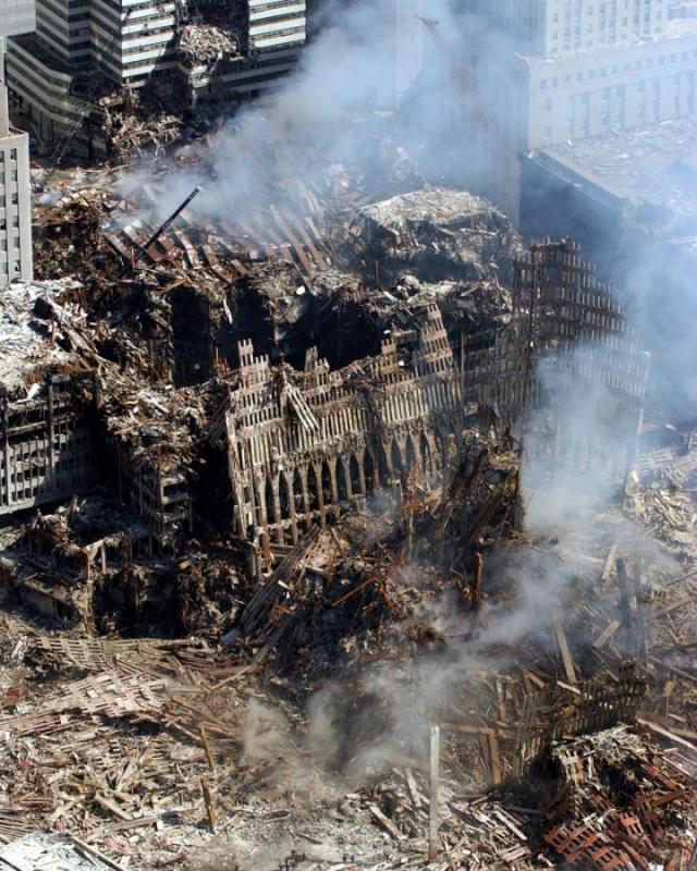 Building 7 debris