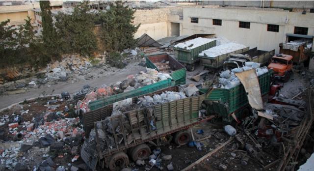 green-truck-syria-aid